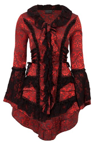 Jawbreaker -  Cappotto  - Donna Rosso Red and Black