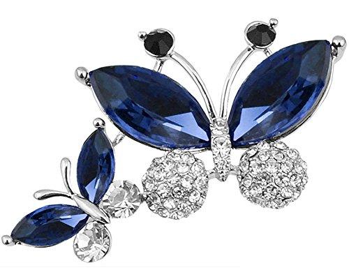 Broche con Mariposas Cristal Swarovski Azul