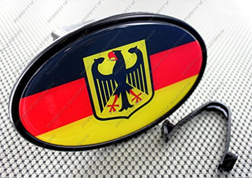 Germany Deutschland Crest Flag Tow Hitch Cover with 3d Decal