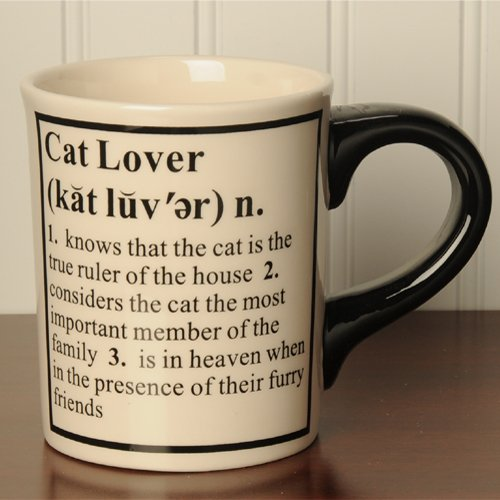 Tumbleweed Pottery Cat Lover Definition Occupational Coffee Mugs