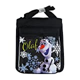 Officially Licensed Disney Adjustable Strap Three Zipper Velcro Flap Purse - Olaf