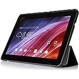 [Bamboo] Smart Cover Étui Housse en PU Cuir Avec Main Support Fonctions Pour ASUS Transformer Pad TF103C Tablet ,Noir