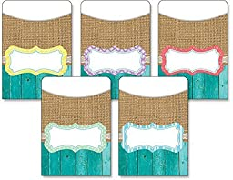 Teacher Created Resources Shabby Chic Library Pockets (77178) by Teacher Created Resources