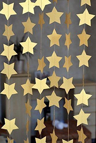 Sunbeauty 4 Meter F Nfeckige Sternketten String Papier