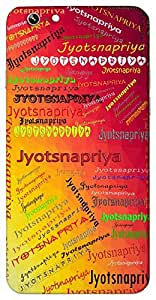 Jyotsnapriya (Beloved of moon -light) Name & Sign Printed All over customize & Personalized!! Protective back cover for your Smart Phone : Moto G-4-PLAY
