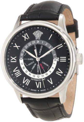Versace Men's 30A99D008 S009 Business Dual Time