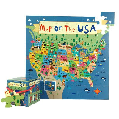 Cheap Mudpuppy Press Map of the USA Jigsaw Puzzle (735315019)