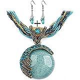 Ularmo 2015 New Hot Fashion Bohemian Jewelry Statement Necklaces Women Rhinestone Gem Pendant Collar