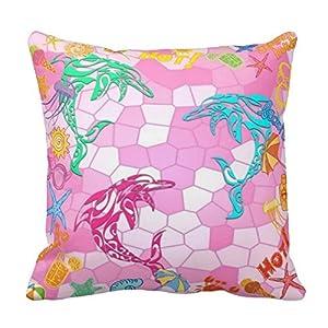 Fun Throw Pillows For Bed : Amazon.com - Fun Cushion For The Kids - Beach Dolphins Summer Throw Pillow 18 X 18 Two Sides ...