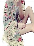 (フルールドリス)Fluer de lis カーディガン ボレロ 花柄 ボヘミアン フリンジ プリント アパレル レディース ファッション 服 ft555-k1-3290wf