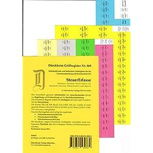 SteuerErlasse Griffregister Nr. 869 (2016): 160 selbstklebende und farbig bedruckte Griffregister f