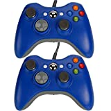 2 X Blue Usb Wired Game Pad Controller For Microsoft Xbox 360 Pc Windows New