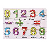 Highdas Forma de madera Clasificaci�n Puzzles, 13 piezas cl�sicas clavija de madera rompecabezas temprana de n�mero y s�mbolo para la Educaci�n juguetes de aprendizaje para ni�os de los ni�os