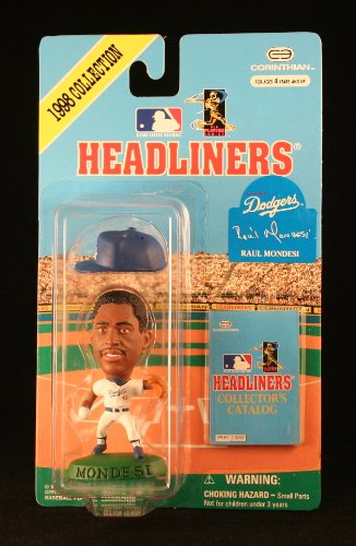 RAUL MONDESI / LOS ANGELES DODGERS * 3 INCH * 1998 MLB Headliners Baseball Collector Figure
