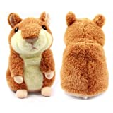 ZPS Hot Sale New Mimicry Pet Hamster Talking Plush Animal Toy Electronic Hamster Mouse Brown