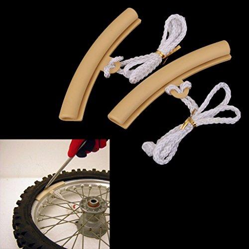 2-Ruota-Protettivo-Pneumatico-Cerchio-Rimuovere-Bordo-Auto-Protezione-Motocicletta-Moto