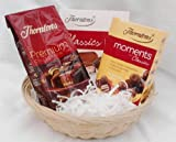 Thorntons Mini's Gift Basket - Premium Collection 86g , Classics 52g & Moments 52g - Cellophane & Ribbon Gift Presented