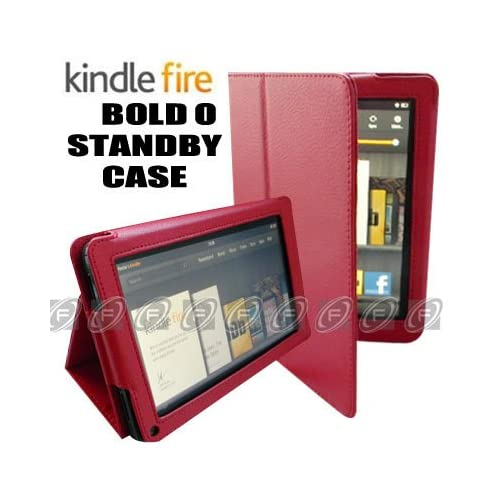 CaseNinja (Red) PU Leather Folio Case Cover for  Kindle Fire 7 inch Tablet with Stand