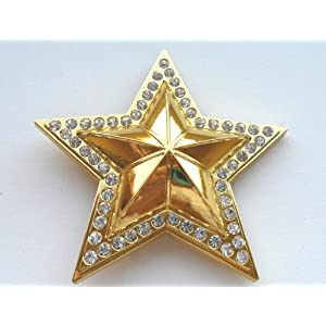 Lone Star State with Rhinestones & Bling Belt Buckle