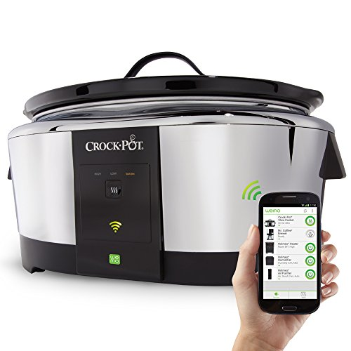 Crock-Pot 6-Quart Wemo Smart Wifi-Enabled Slow Cooker, Stainless Steel, SCCPWM600-V2 (Crockpots With Timers compare prices)