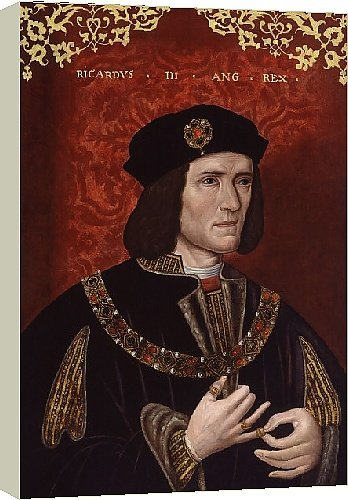Canvas Print of King Richard III from National Portrait Gallery