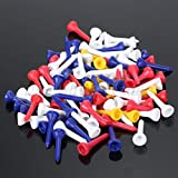 Generic 100Pcs 36mm Mutil Color Cup Tip Plastic Golf Tees Driver Training Outdoor Tool