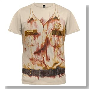 Walking Dead - Mens Rick's Sheriff Costume T-shirt Medium Tan
