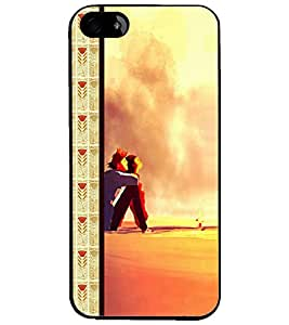 PrintDhaba Couple D-2685 Back Case Cover for APPLE IPHONE 4 (Multi-Coloured)