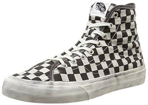 Vans U Sk8-Hi Decon Overwashed, Sneaker uomo, Nero (overwashed/black/check), 40