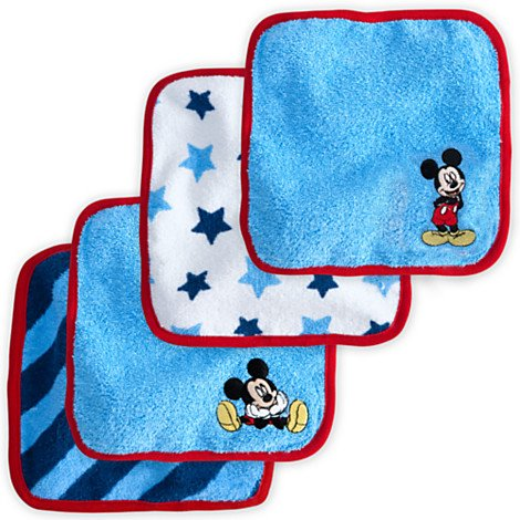 Disney Baby Exclusive Mickey Mouse Washcloth Set - 1