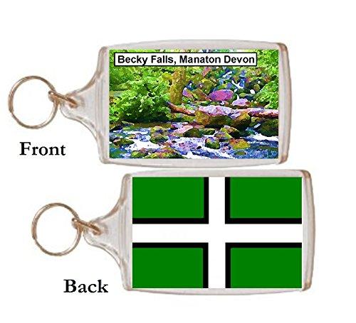 Schlüsselring Becky Wasserfall Devon Geschenk Tourist Souvenir