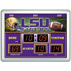 NCAA LSU Tigers NG Scoreboard by Team Sports America
