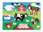 Melissa & Doug Wooden Peg Puzzle Farm...