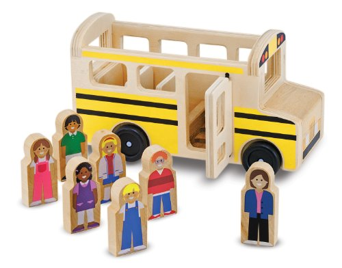 Melissa & Doug School Bus Play Set (Wood Toy Bus compare prices)