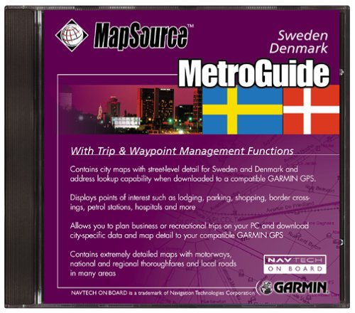Garmin MetroGuide Denmark/Sweden Map CD-ROM (Windows) (Discontinued by Manufacturer)