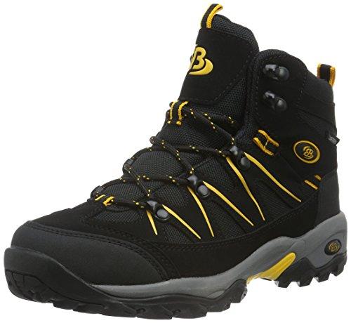 Bruetting Mount Hunter - Zapatos de senderismo de material sintético hombre, Negro (SCHWARZ/GELB), 40