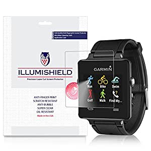 iLLumiShield Garmin Vivoactive Screen Protector Ultra Clear HD Film with Anti Bubble and Anti Fingerprint High Quality Invisible LCD Shield [3 Pack]