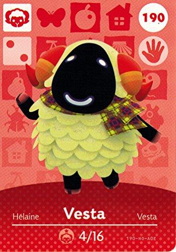 Nintendo Animal Crossing Happy Home Designer Amiibo Card Vesta 190/200 USA Version