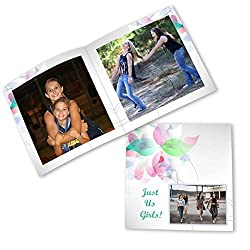 Clixicle Customized Best Friends Forever Flip Photo Book Album - Just Us, 20 pages, 6in x 6in