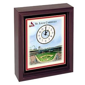 St. Louis Cardinals Busch Stadium Colorprint Desk Clock by St. Louis Cardinals