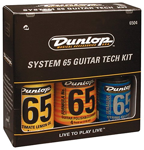 dunlop 6504 system 65 guitar tech kit cleaning guitar strings guitars and strings products. Black Bedroom Furniture Sets. Home Design Ideas
