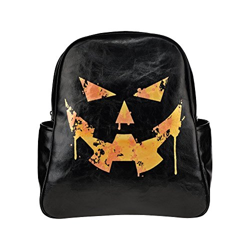 [Navarro Halloween October 31 Jack O Lantern Unisex Multi Pocket Shoulders Backpack] (Lock Shock And Barrel Costumes From Nightmare Before Christmas)