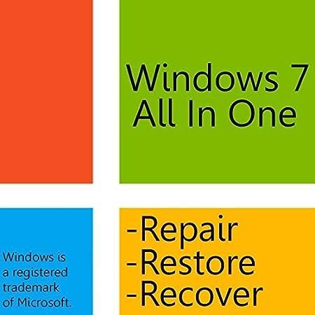 Windows 7 Home Premium 64 Bit Boot Disc - Reinstall - Repair - Restore - Recover - Windows 7