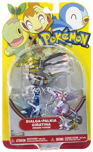 Picture of Jakks Pacific Dialga, Palkia, Giratina (Origin Forme): Pokemon Mini-Figure Multi-Pack Series (B004UM7IWM) (Pokemon Action Figures)