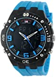 U.S. Polo Assn. Sport Mens US9175  Blue Silicone Analog Digital Sport Watch