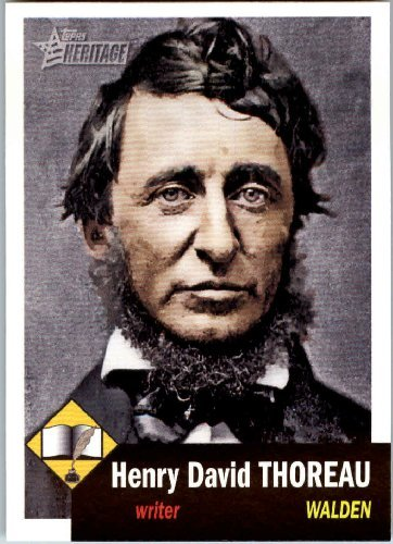 Henry David Thoreau tradin card