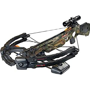 Barnett Predator Lite 375 CRT Crossbow Package (Quiver, 4 - 22-Inch Arrows and Illuminated 3x32mm Scope)