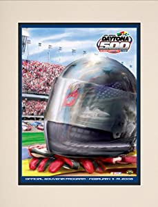 NASCAR Matted 10.5 x 14 Daytona 500 Program Print Race Year: 48th Annual - 2006 by Mounted Memories