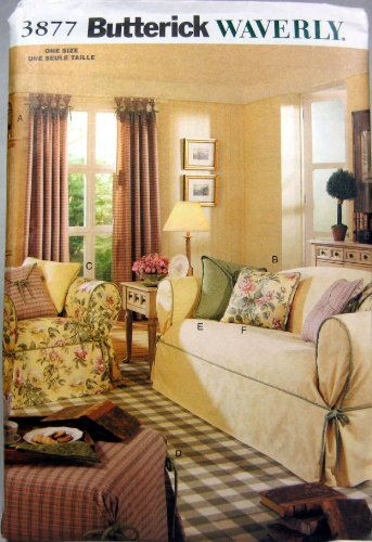 Butterick Patterns B3877 Drapes, Slipcovers & Pillows, All Sizes