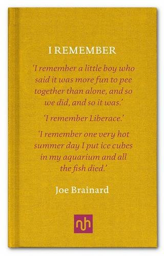 joe brainard i remember pdf